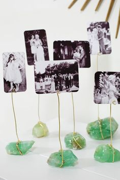 A Beautiful Mess | Try This: Mineral Photo Display