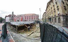 VEZI pentru ultima dată Băile turcești și Canalul austriac din Piața Libertății, înainte de a fi reîngropate VIDEO Street View