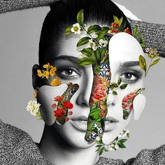 35 ideas surreal art photography photomontage for 2019 Art Du Collage, Surreal Collage, Surreal Art, Surreal Portraits, Flower Collage, Collage Artists, Photomontage, Art Floral, Collages