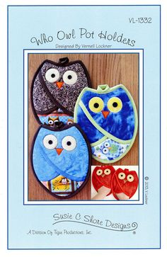 Who Owl Potholder Pattern by Susie C. Shore by DragonflyRealm, $6.95