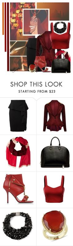 """""""Jafar - Business - Disney's Aladdin"""" by rubytyra ❤ liked on Polyvore featuring Villain, Emilio Pucci, Kate Spade, Louis Vuitton, Moschino, J.TOMSON, Brunello Cucinelli, Ice, disney and aladdin"""