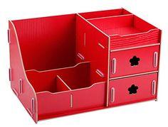 Menu Life Ladies Jewellery Storage Boxes DIY Desk Organiser Desk Drawers Office Desk Storage Boxes (Red)