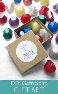 DIY Gem Soap Gift Set