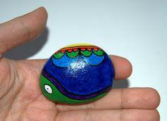 Piedra Pintada - Painted Stone. Caracol - Snail.