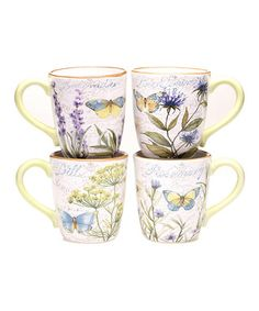 Herb Garden Mug - Set of Four