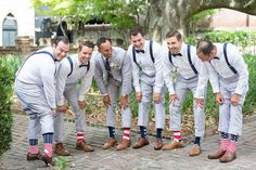 July 4th Independence Day wedding inspiration featuring American Flag socks I Photography: Gillian Ellis Photography