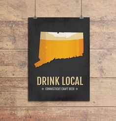 Connecticut Beer Print Map - CT Drink Local Craft Beer Sign, Wall Art, Décor, Canvas, Boyfriend Gift, Husband Gift, Beer Gift, Beer Art, Minimal, Custom, Personalized, Hartford, Stamford Poster. Is there anything better than tipping back a hand-crafted beer from Connecticut? With so many great breweries popping up in Hartford and Stamford, show your love with this Connecticut Craft Beer Print Map. This Craft Beer Sign is a great conversation piece and allows you to celebrate your love of...