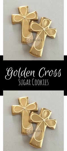 Gold Cross cookies / 1 Dozen / Baptism cookies / First communion cookies/ Holy communion cookies / Christening cookies /Cross cookies #affiliate