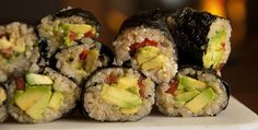 Happy #MeatlessMonday! Try this Plant-Strong Sushi from The Engine 2 Diet.