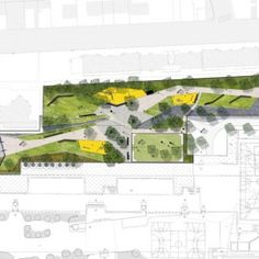 Asnières Residential Park by Espace Libre Landscape Architects