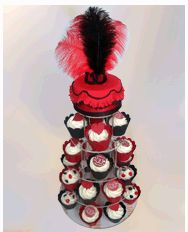 Moulin Rouge Style Hen Party CupCakes and Cutting Cake