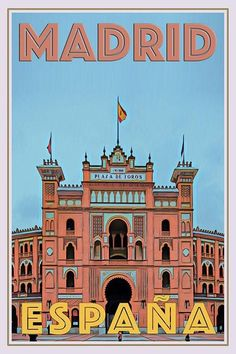 Vintage poster - Plaza de Toros Madrid - Affiche retro Buy the poster on www. Room Posters, Poster Wall, Poster Prints, Life Poster, Art Prints, Vintage Travel Posters, Vintage Postcards, Vintage Ski, Personalised Posters