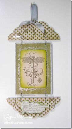 A piece of wall decor created with Stampendous images and acrylic from Clear Scraps.