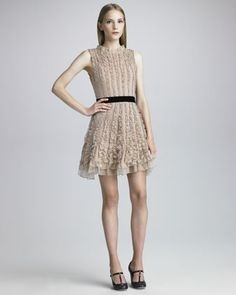 Ruffled Organza Dress by RED Valentino at Neiman Marcus.