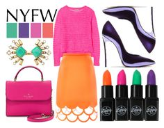 """NYFW"" by cherieaustin ❤ liked on Polyvore featuring Paperchase, Rebecca Taylor, Honor, Kate Spade, Stella & Dot, Casadei, women's clothing, women, female and woman"