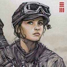 Rogue One - Jyn Erso Sketch by Erik-Maell.deviantart.com on @DeviantArt