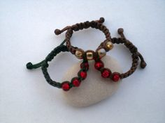 Macrame rings adjustable. Hand knot rings. Rings for by asmina, $8.00