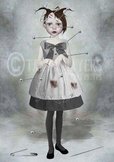 Gothic Art Print - Voodoo Doll