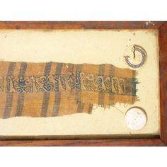 Early Oriental 13th century Tiraz  fragment of cloth from the Ayyubid or Mamluk Period