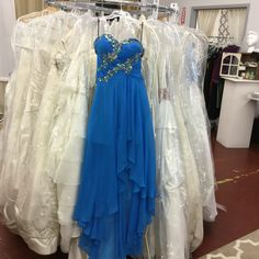 #blue #chiffon #beaded #prom #Formal #pageant #dress Size4#consigned @cconsignmentbridalprom