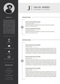 Professional Resume Template \u0026 Cover Letter + Icon Set for Microsoft Word | 4 Page Pack | Professional CV | Instant Download | The "|236|334|?|aae39622ca51bf8002b4024b7612a528|False|UNLIKELY|0.345175176858902