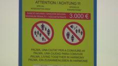 3000 Euro Strafe - für was?: Neue Verbotsschilder lassen Ballermann-Besucher rätseln