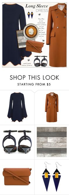 """""""Party On: Long Sleeve Dresses"""" by alves-nogueira ❤ liked on Polyvore featuring Roksanda, Toolally, coat, longsleeve, roksanda and longsleevedress"""