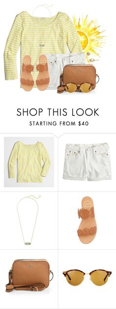 """Going to the mall for some shopping☀️"" by flroasburn on Polyvore featuring J.Crew, Kendra Scott, Jack Rogers, Tory Burch and Ray-Ban"