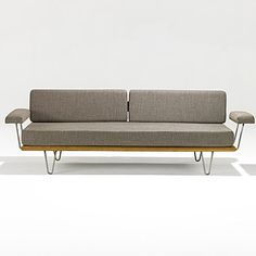 George Nelson; Birch and Aluminum Daybed for Herman Miller, 1949.