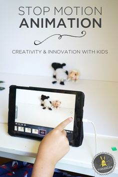 Kids can create their own stop motion movie! This Stop Motion Animation project is so easy to set up, and a great way to encourage STEAM concepts with children. A great summer or rainy day boredom buster. Art And Technology, Educational Technology, Digital Technology, Stem Activities, Activities For Kids, Cultura Maker, Projects For Kids, Crafts For Kids, Lego Projects