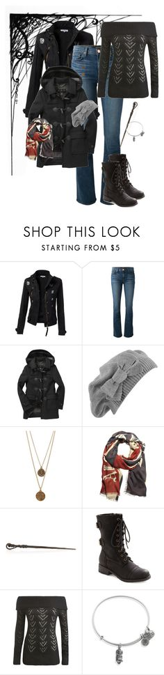 """Finding A Horcrux"" by brudolph ❤ liked on Polyvore featuring Burton, J Brand, Barbour, Forever 21, Bee Charming, Alexander McQueen, Wet Seal and Alex and Ani"