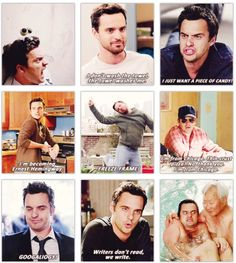 All this deserved an Emmy nomination. Nick Miller aka Jake Johnson is comedic perfection.