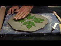 Prato de argila com decalque de folha natural. - YouTube