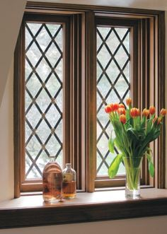 Diamond pane windows! Old World chic