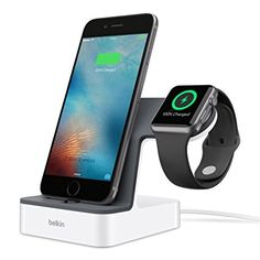 https://www.youtube.com/watch?v=05SQ7NK2-0E Belkin F8J200VFWHT - Base de carga PowerHouse para Apple Watch y iPhone (carga magnética, conector lightning ajustable para funda, 3,4 A de corriente, cable de 1,2 m), blanco