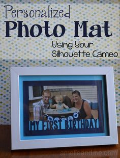 OK, well, it might be more than just two clicks. For this project, with a click of make compound path and a click of weld you will be well on your way of making custom, personalized photo mats for...