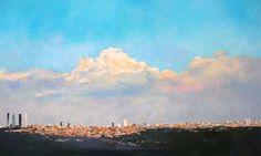 Vista de Madrid al óleo 116x73 cms