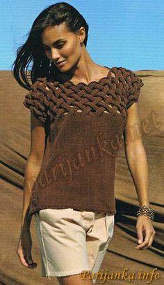 Пуловер без рукавов 21152 (Бержер)