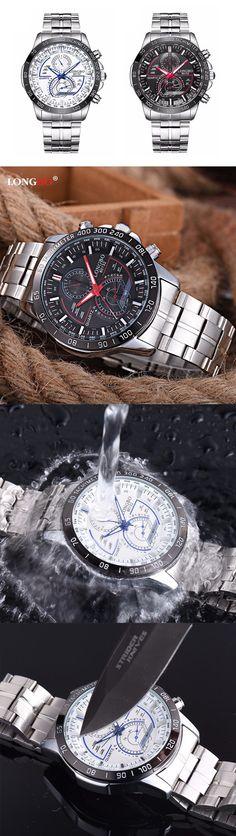 $17.01 Charming Men Stainless Steel Fluorescence Hands Waterproof Watch| watches for men| unique watches| waterproof watches| Fluorescence watches| sport watches| swimming watches| men's watches|watches male| Stainless Steel watches|Stainless Steel watches men|
