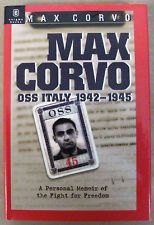 WWII: Max Corvo: OSS in Italy 1942-45 HC DJ Signed