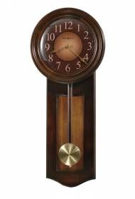 Quartz Howard Miller Cherry Wall Clock wood pendulum 625385 Avery-This dual tone wall clock features a handsome Rustic Cherry finish with a contrasting Vintage Umber inset panel.