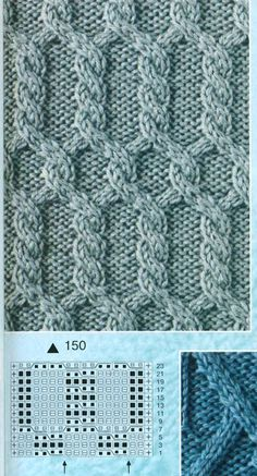 Knit Pattern Love the twisty cables. Cable Knitting Patterns, Knitting Stiches, Knitting Charts, Lace Knitting, Knitting Designs, Knit Patterns, Knitting Projects, Stitch Patterns, Crochet Stitches