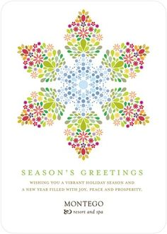 The top 3 business holiday card winners lettering and typography all season snowflake business holiday card designs from tiny prints reheart Choice Image