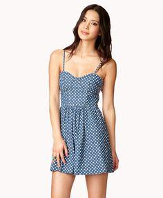 chambray polka dot dress - forever21.com