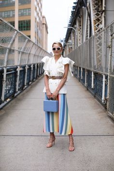 Rainbow stripes! // Shop Reformation at Nordstrom now. Click through to shop this look and more