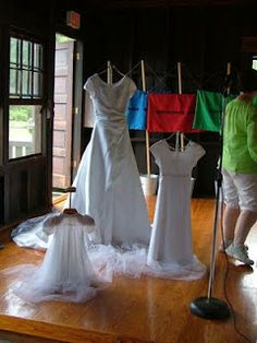 (could be done with shoes, for Stand in Holy Places theme) The Hundred Dresses.  Fabulous activity describing all the dresses you will wear in your life.....and the three most important ones.