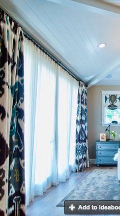 BIg ikat pattern curtains
