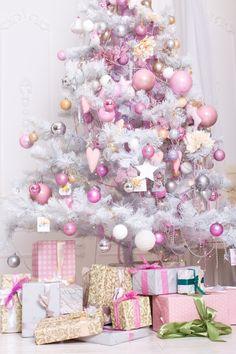 Pink Christmas Tree Decorations, Gold Christmas Tree, Cheap Christmas, Christmas Holiday, Hello Kitty Christmas Tree, Christmas Topiary, Wallpaper Natal, Christmas Photography Backdrops, Fall Photography