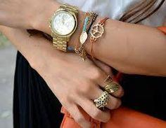 Image result for layered gold bracelets