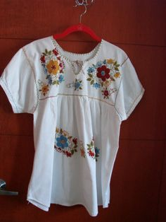 Fiesta embroidered Mexican Tunic by DulcesCreaciones on Etsy, $35.00